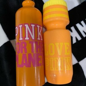 Love ❤️ Pink Plastic Yellow Water bottle